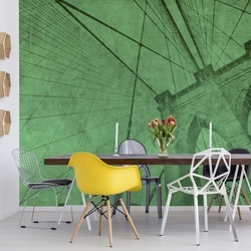 Fototapet - Podul Brooklyn – Efect Grafic Verde