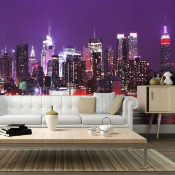 Fototapet - Rainbow city lights - New York