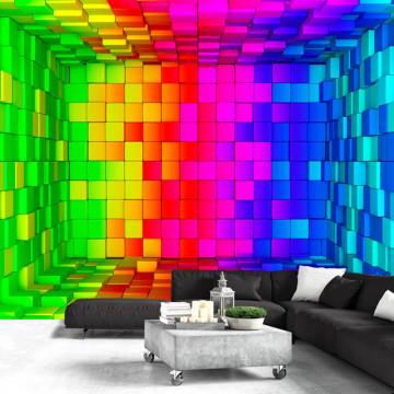 Fototapet - Rainbow Cube