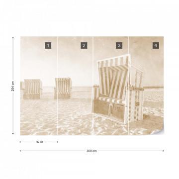 Fototapet - Relaxare pe Plajă – Sepia