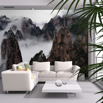 Fototapet - Sea of clouds in Huangshan Mountain, China