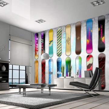 Fototapet - Snowboard wall