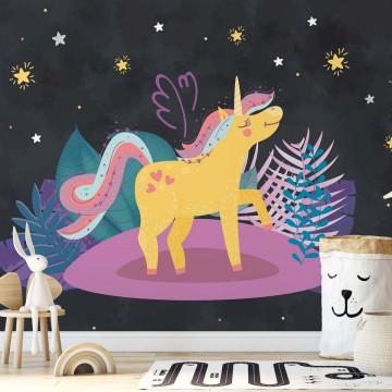 Fototapet - Unicornul Ula sub Cerul Înstelat
