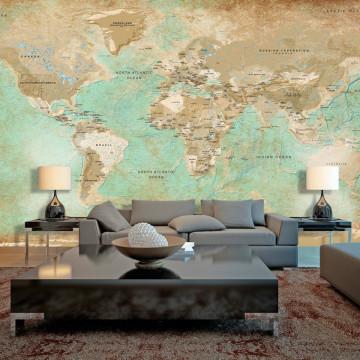 Fototapet XXL - Turquoise World Map II