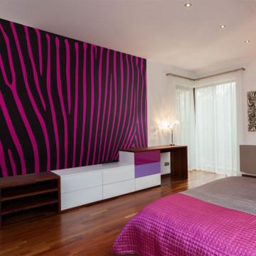 Fototapet - Zebra pattern (violet)