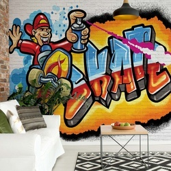 Graffiti Skateboarding Photo Wallpaper Wall Mural