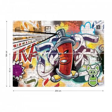 Graffiti Street Art Red Photo Wallpaper Wall Mural