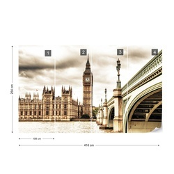 Houses Of Parliament London City Photo Wallpaper Wall Mural