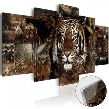 Imagine pe sticlă acrilică - Guard of the Jungle [Glass]