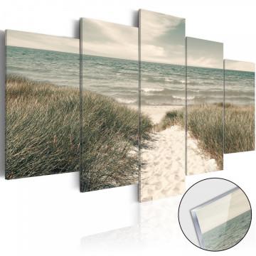 Imagine pe sticlă acrilică - Quiet Beach [Glass]