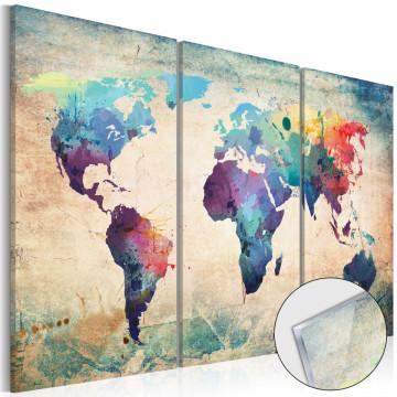 Imagine pe sticlă acrilică - Rainbow Map [Glass]