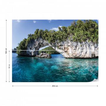 Island Sea Photo Wallpaper Wall Mural