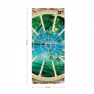Lake Forest Ornamental Window View Photo Wallpaper Wall Mural