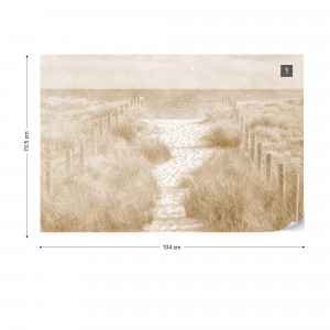 Let's go down to the Beach Faded Vintage Sepia