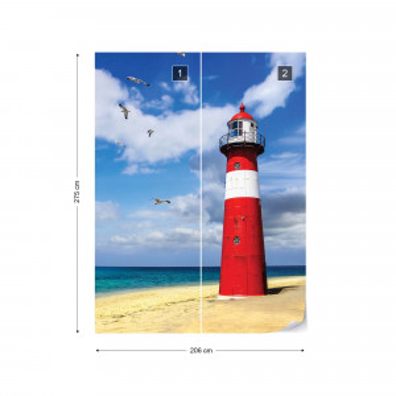 Lighthouse Beach Photo Wallpaper Wall Mural