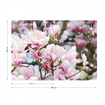 Magnolia Flowers Photo Wallpaper Wall Mural