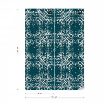 Modern Abstract Pattern Blue Photo Wallpaper Wall Mural