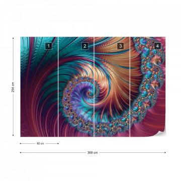 Modern Abstract Spiral Design Photo Wallpaper Wall Mural
