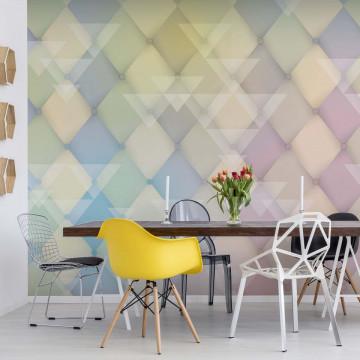 Modern Design Diamonds Photo Wallpaper Wall Mural