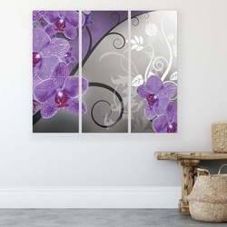 Modern Flowers, Nature, & Swirls Canvas Photo Print