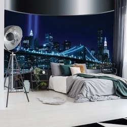 New York Brooklyn Bridge City Skyline Photo Wallpaper Wall Mural