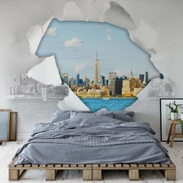 New York City Rip Photo Wallpaper Wall Mural