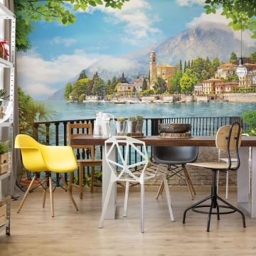 Paradise Lakeside View Photo Wallpaper Wall Mural