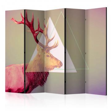 Paravan - deer (graphic pattern) II [Room Dividers]