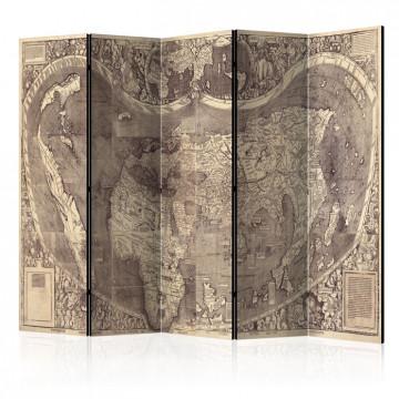Paravan - Room divider – Map ( Amerigo Vespucci ! )
