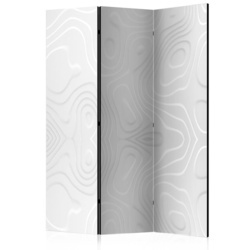 Paravan - Room divider - White waves I