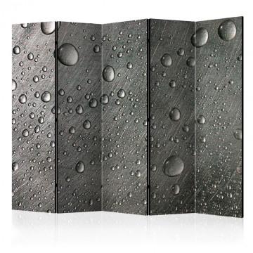 Paravan - Steel surface with water drops II [Room Dividers]