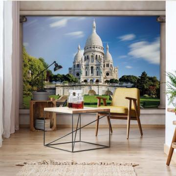 Paris Sacre Coeur Roman Column View Photo Wallpaper Wall Mural