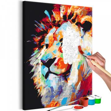Pictatul pentru recreere - Portrait of a Colourful Lion