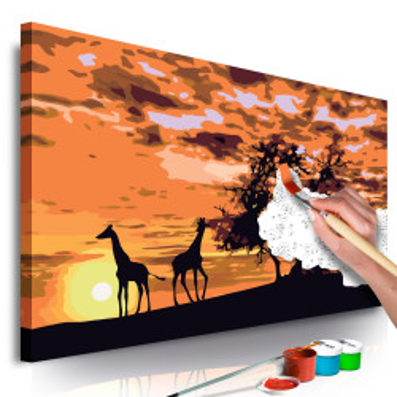 Pictatul pentru recreere - Savannah (Giraffes & Elephants)