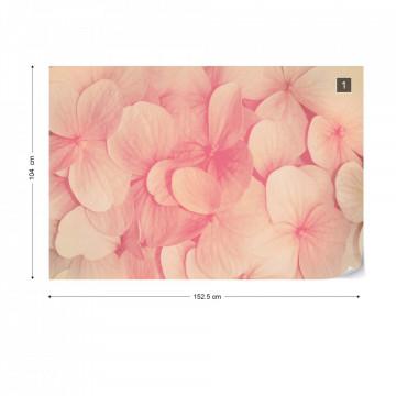 Pink Flowers Photo Wallpaper Wall Mural