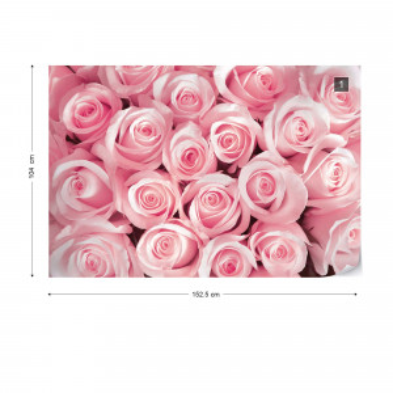 Pink Roses Photo Wallpaper Wall Mural
