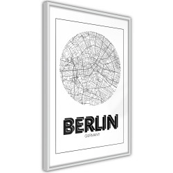 Poster - City Map: Berlin (Round)