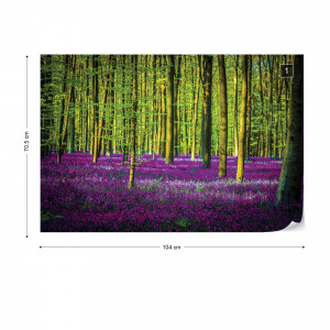 Purple Forest Trees Photo Wallpaper Wall Mural