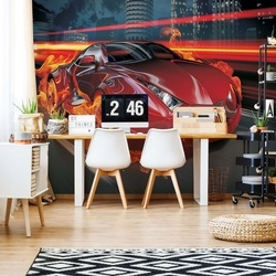 Red Car Photo Wallpaper Wall Mural