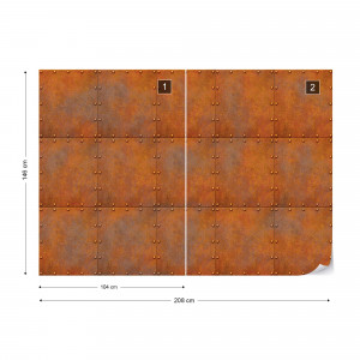 Rust Texture Photo Wallpaper Wall Mural