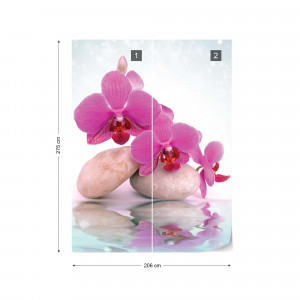 Spa Orchids And Pebbles Photo Wallpaper Wall Mural