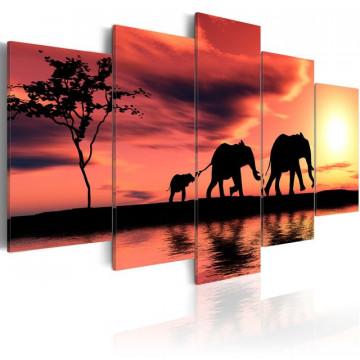 Tablou - African elephants family