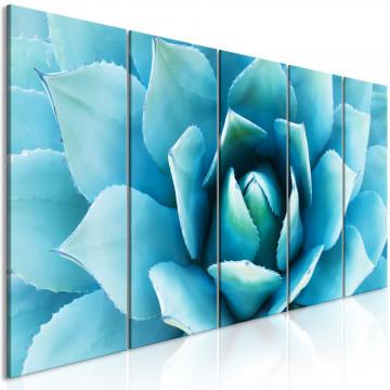 Tablou - Agave (5 Parts) Narrow Blue