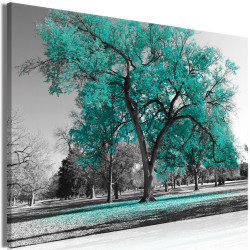 Tablou - Autumn in the Park (1 Part) Wide Turquoise