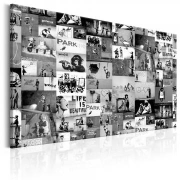 Tablou - Banksy: Graffiti Collage