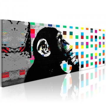 Tablou - Banksy: The Thinker Monkey