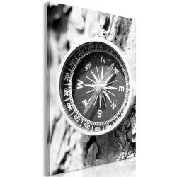 Tablou - Black and White Compass (1 Part) Vertical