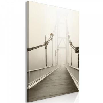 Tablou - Bridge in the Fog (1 Part) Vertical