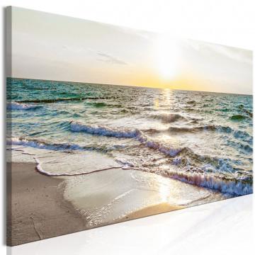 Tablou - Calm Waves (1 Part) Narrow Grey
