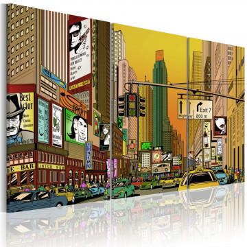 Tablou - Cartoon NYC